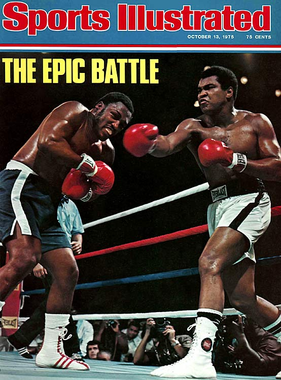 "Frazier faced Muhammad Ali for the third and final time in Quezon City, Philippines -- the so-called ""Thrilla in Manila"" -- in an action-filled bout that effectively ended the careers of both fighters. Widely recognized as the greatest heavyweight championship fight ever, Ali won when Frazier's trainer Eddie Futch refused to let his fighter come out for the 15th round. Ali later said it was the ""closest thing to dying I know of."""