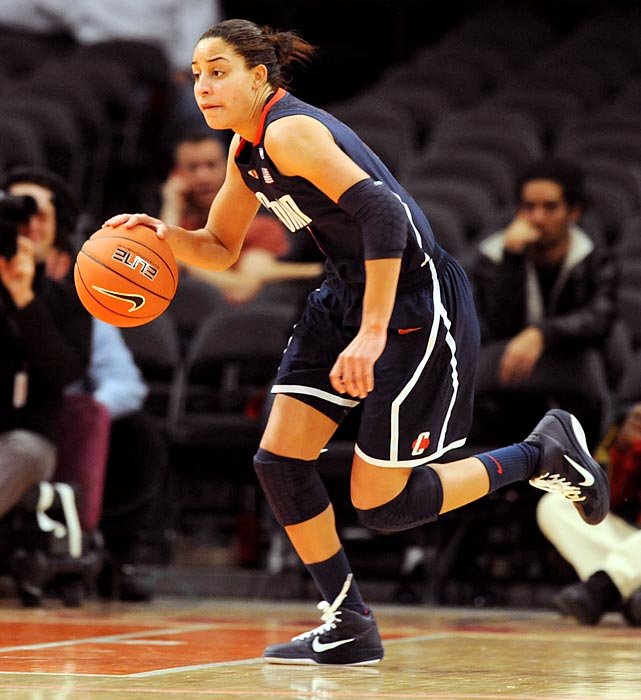 The Blue Devils faced the Huskies twice last season and lost both matchups by a combined 71 points. UConn handed Duke its first lost on Jan. 31 before Connecticut's Maya Moore scored 28 points against the No. 2-seeded Blue Devils to surpass 3,000 career points in the March 29 Philadelphia Regional. With the All-American Moore now gone, Geno Auriemma's squad will have to face a Duke team that returns only two starters but will be in contention for a third-straight ACC title.