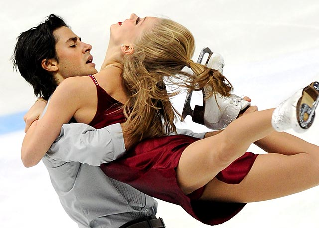 Canada's Kaitlyn Weaver and Andrie Poje perform during the ISU Grand Prix of figuring skating in Moscow. The pair won their third ice dance silver medal at the event.
