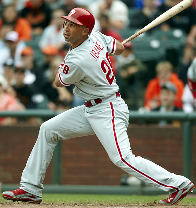 CURRENT TEAM:  PHILLIES  BEST FIT:  MARINERS   The Phillies signed Ibanez to a 3-year, $31.5 million contract in December of 2008, and while his career in Philadelphia started off brilliantly -- he had 22 home runs and 60 RBI's by the '09 All-Star break -- his age seemed to catch up with him after that. He is now, simply, a terrible defensive outfielder -- the worst in baseball, according to fangraphs.com's Ultimate Zone Rating metric -- but he can still be a productive DH, and he could slide into the role that might be vacated by the similarly genial Johnny Damon with the Rays.
