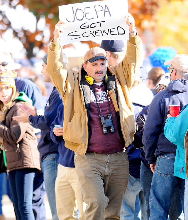 Fired coach Joe Paterno also had his supporters outside of Beaver Stadium.