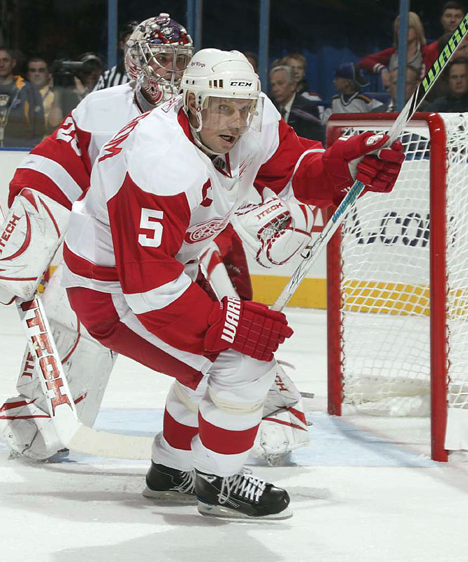 Detroit captain Nicklas Lidstrom, a seven-time Norris Trophy winner, is playing his 20th season in a Red Wings uniform.