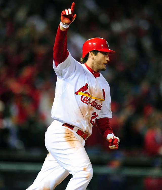 """David Freese is my Sportsman of the Year because, in one unforgettable night, he showed us that there's still magic in sports. Because sometimes it's just about the moment, and Freese gave us not one but two of the greatest and thrilling moments of 2011, the improbable, ninth-inning, game-tying Game 6 triple and then, two innings later, the jaw-dropping, 11th-inning walk off home-run that sent the Comeback Cards on their way to a title.""    Click here to read more."