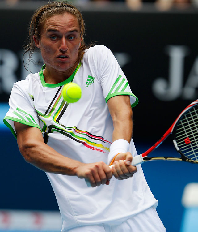 The Ukrainian began the year just inside the top 50 and began his climb at the Australian Open. Dolgopolov ousted Jo-Wilfried Tsonga and Robin Soderling on the way to his first Grand Slam quarterfinal. In July, he won his first ATP event, downing Marin Cilic in the final of the Croatia Open.