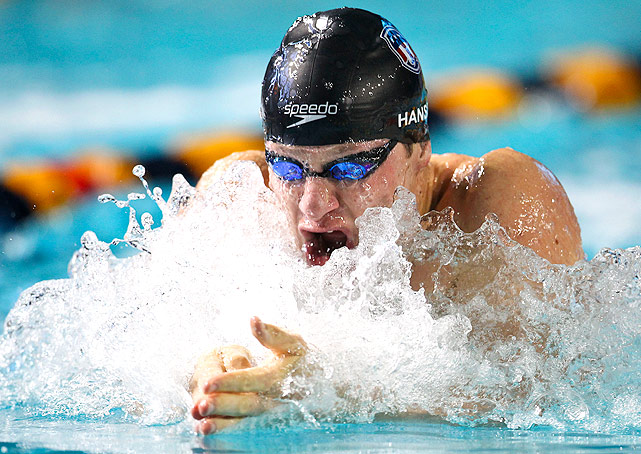 Brenden Hansen swept both of the men's breaststroke events, and swam the breaststroke leg on the men's 4x100m medley relay, which also won gold.