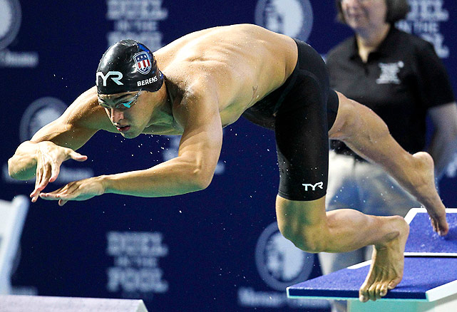 Ricky Berens won the 100m and 200m freestyles for the U.S. men, and contributed to the gold medal-winning 4x100m freestyle relay.