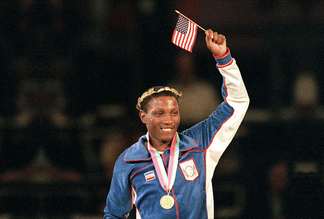 "After capturing gold in L.A., ""Sweet Pea"" went on to win titles in four different weight divisions."