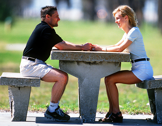Knoblauch sits with his wife during spring training in 1998. The couple divorced one year later.