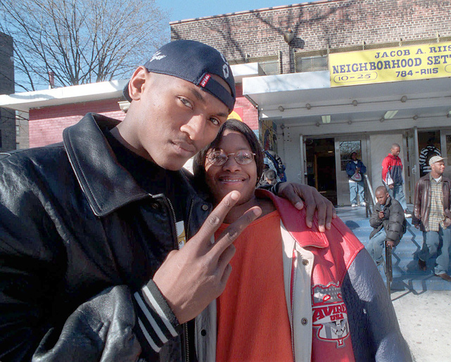 Ron Artest poses with girlfriend Kimsha Hatfield in Queens, N.Y., the day he announced his bid for the 1999 NBA draft. Artest and Hatfield were married from 2003 to 2006 and have three children together.