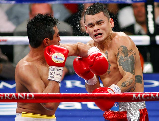 It was supposed to be Morales' swan song. But no one told the Mexican legend, who entered the ring as a 6-to-1 underdog against the Argentine slugger Maidana. When the dust cleared after 12 back-and-forth, pulse-pounding rounds, a majority decision came down in favor of Maidana -- the night belonged to  El Terrible , whose victory earned him a title shot later in 2011.