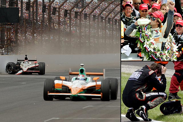 The 100th running of the Indianapolis 500 provided an ending no one could believe. With two laps remaining, 23-year-old rookie J.R. Hildebrand, a virtual unknown before the race, seized the lead. But on the last turn, with Victory Lane in sight, Hildebrand crashed into the wall, allowing Dan Wheldon to secure his second career Indy 500 victory. Tragically, Wheldon was killed in an IndyCar crash at Las Vegas on Oct. 16, but his win will forever live in Indianapolis lore.