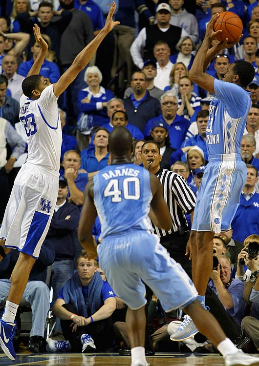 A slew of future high NBA draft picks clashed at Rupp Arena in the 2011-12 season's most eagerly awaited nonconference game. The game was decided on an Anthony Davis block in the final seconds as No. 1 Kentucky extended its home winning streak to 39.