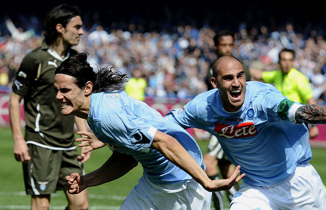 This Italian league game had it all -- seven goals, some of them stunning, a hat trick from the irrepressible Edinson Cavani of Napoli, an own goal, red cards for a manager as well as a player and Cristian Brocchi's disallowed goal (which appeared to have crossed the line). On top of all that, the Napoli and Lazio owners had engaged in a scuffle just days earlier.