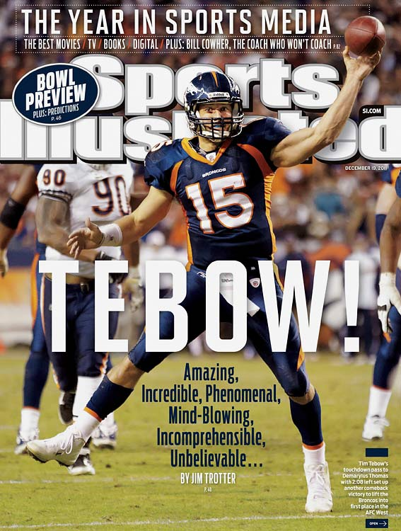 How could we do a Games of the Year gallery without including the Tebow-led Broncos' late dramatics? It's hard to pick just one, though, so consider this recognition of Denver's five fourth-quarter comebacks in Tebow's first eight games at quarterback, including three that went to overtime and one (against Chicago) that featured Matt Prater's last-second, 59-yard field goal to tie it and his 51-yarder to win it in OT.