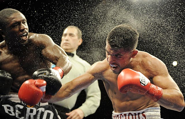 Fight fans had questioned Ortiz's constitution ever since he'd quit mid-fight against Marcos Maidana in 2009. But whatever questions remained about the Garden City, Kan., native's toughness were answered when he outpointed the previously undefeated Berto for the welterweight championship in a knock-down, drag-out brawl that saw both fighters hit the canvas twice. When the final bell rang, it was the challenger Ortiz who came away with the unanimous decision.