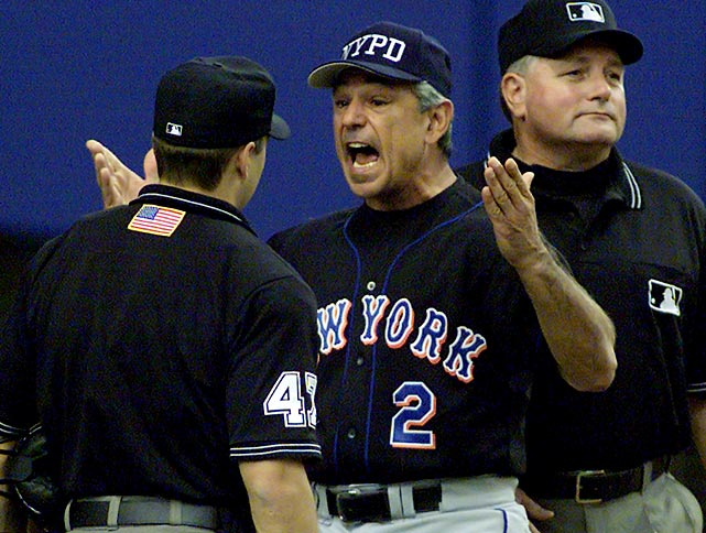 Valentine returned to the U.S. in 1996, taking over the Mets' Triple-A affiliate. He was named manager of the New Yor Mets with 31 games left in the season. New York finished 88-74 each of the next two seasons, and in 1999 they finished 97-66 to win the NL wild card. In 2000, the Mets reached the World Series. Things went downhill from there. After quarreling with GM Steve Phillips for most of his time in New York, Valentine was fired after the 2002 season.