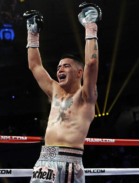 The classic all-action pressure fighter, ''Bam Bam'' scored three big victories this year to improve to 29-0-1. With knockouts in 10 of his past 11 fights, Rios' reputation for crowd-pleasing brawls is only growing as the stakes increase. Though he lost his lightweight title on the scale when he couldn't make weight for a Dec. 3 defense against Great Britain's John Murray (TKO 11), the 25-year-old Rios can look forward to bigger fights (and paydays) at 140 pounds.