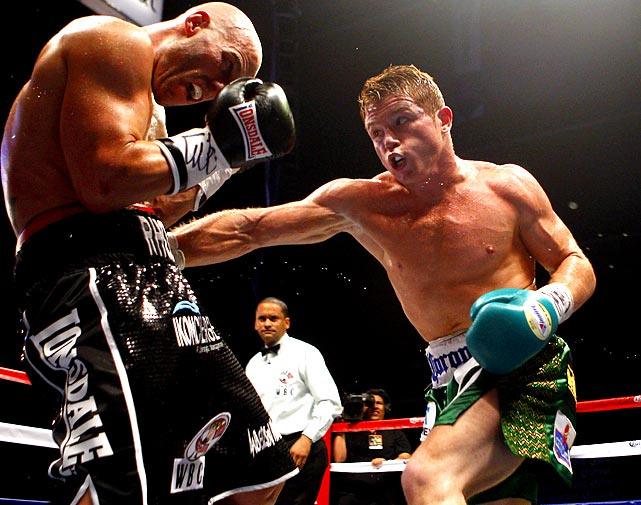 "Boxing's youngest reigning world champion is a red-haired Mexican known as ""Canelo,"" who won four fights this year to improve to 39-0 with 29 knockouts. The 21-year-old junior middleweight continues to convert the doubters with one dominant performance after another -- and an all-Mexican clash of unbeatens with Julio Cesar Chavez Jr. (rumored for spring 2012) would certainly provide his biggest stage yet."