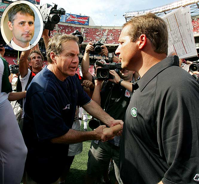 After the first week of the 2007 season, the New York Jets accused the New England Patriots of illegally videotaping their defensive coaches' signals. The incident, better known as Spygate, cast doubts on the Patriots' three Super Bowl titles and permanently tarnished coach Bill Belichick's legacy. For the infraction, the NFL fined Belichick $500,000 and the team $250,000. The Patriots were also forced to surrender their 2008 first-round draft choice. In 2008, former Patriots video assistant Matt Walsh (inset) sent eight videotapes containing opponents' coaches' signals from the 2000 through 2002 seasons to NFL Commissioner Roger Goodell.