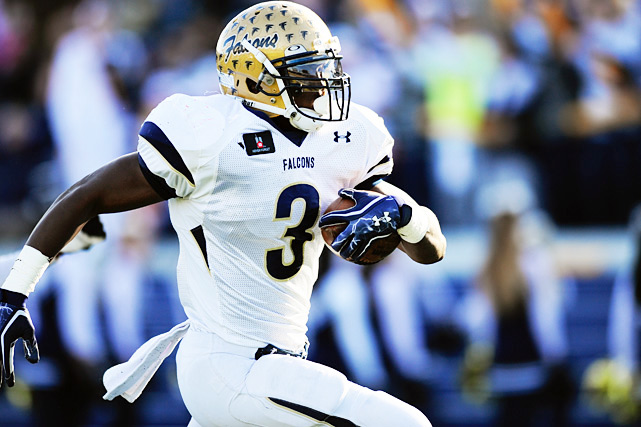 All-everything athlete Stefon Diggs was the headliner for Good Counsel, but four-star running back Wes Brown (pictured) was the engine that made it go. He amassed 1,382 yards and 22 touchdowns, 383 yards and seven scores coming in two playoff games. Diggs wasn't bad, either. He accounted for 1,443 all-purpose yards in leading the Falcons to their third consecutive WCAC title.