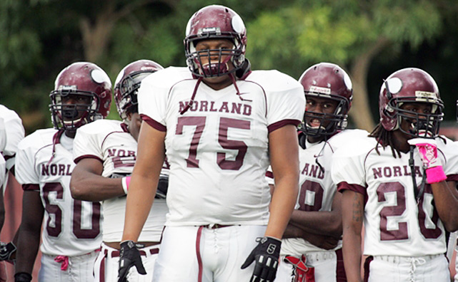 As far as clutch performances go, few were more impressive than that of Norland's Duke Johnson. The 5-9, 170-pound dynamo ran for 1,036 yards in five playoff games, single-handedly carrying the Vikings to the Florida Class 5A championship. Perhaps no team better embodied the ground-and-pound philosophy: Norland outrushed opponents an incredible 3,521-657 this season.