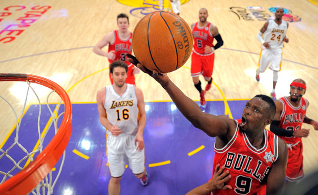 Deng played 38 minutes for the Bulls and contributed 21 points and seven boards in the win, but his stats alone don't reveal how crucial he was to Chicago. His scrappy play on both ends -- especially in the final seconds against Kobe -- carried the Bulls to victory.