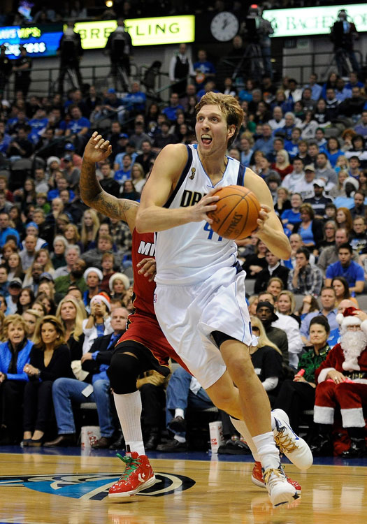 Dirk Nowitzki and the Mavs failed to pick up where they left off last season. The 2011 Finals MVP scored 21 on 6-of-15 shooting in their first game without center Tyson Chandler.