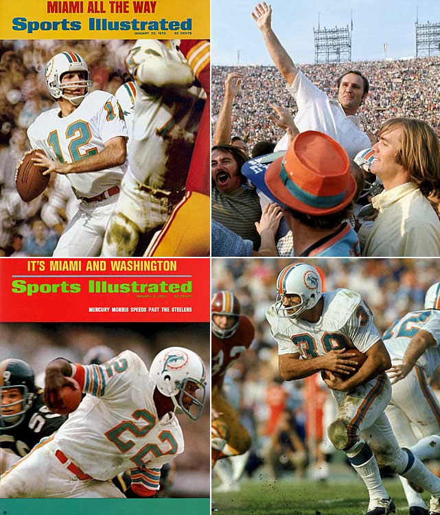 The 1972 Dolphins are the only team to win every regular season game and go on to win a Super Bowl.  According to urban legend the surviving members celebrate with champagne when the last NFL undefeated team loses each season.
