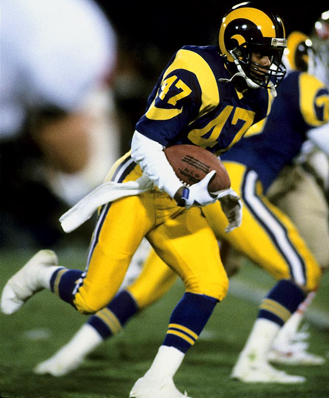 Irvin, a former Los Angeles Ram, recorded an NFL record 207 punt return yards in a 1981 game against the Atlanta Falcons. The cornerback also played in two Pro Bowls.