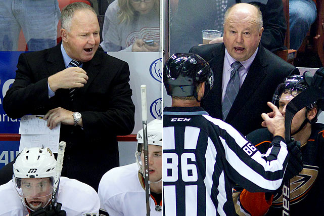 After signing a three-year extension during the summer, Randy Carlyle was handed the proverbial pink slip on Nov. 30 with the Ducks off to a disastrous 7-13-4 start. Assistant coaches Dave Farrish and Mike Foligno, and video coordinator Joe Trotta were also shown the door. The winningest coach in franchise history (273-182-6), Carlyle had been bench boss since August 2005, guiding the team to its only Stanley Cup (2007). Since then, the Ducks had won only one playoff round. His replacement, Bruce Boudreau, had been dismissed by the Washington Capitals less than 72 hours before Carlyle got the axe.