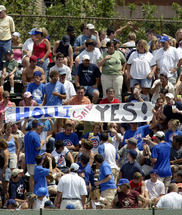 Holli said yes to someone in 2004 at about the time that the Chicago Cubs were beating the Philadelphia Phillies at Wrigley Field.