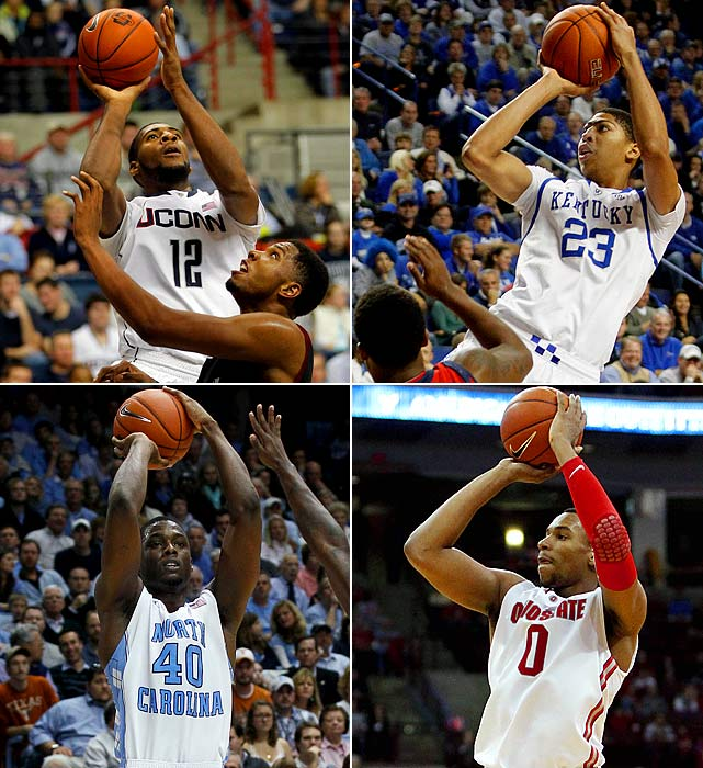 Chances are you won't be hearing NBA scouts complaining about the lack of talent in next year's draft. Consider: Seven potential first-rounders from last year's freshman class -- Ohio State's Jared Sullinger, North Carolina's Harrison Barnes, Baylor's Perry Jones, UConn's Jeremy Lamb, Florida's Patric Young, Kansas' Thomas Robinson and Kentucky's Terrence Jones -- passed on the 2011 draft. If most or all of those players declare as sophomores, and top freshman such as Anthony Davis, Andre Drummond, Bradley Beal, Quincy Miller and Michael Gilchrist follow suit, next June's draft could be the deepest in years.          (Clockwise from top left: Andre Drummond, Anthony Davis, Jared Sullinger and Harrison Barnes)