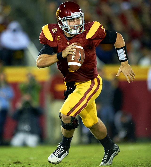 Barkley's decision to forgo the NFL draft and return for his senior season makes USC a preseason top five team. It makes Barkley, who probably deserved an invitation to New York this year, a Heisman contender. And it makes Barkley an early front-runner for the top pick in the 2013 draft.