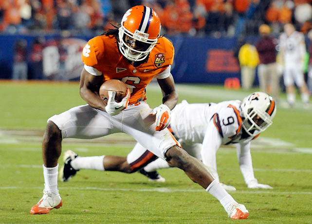 Clemson beat Virginia Tech earlier this season, but after dropping three of four the Tigers seemed like the inferior team. Not so. DeAndre Hopkins (pictured) and the Tigers came to life on offense, amassing 457 yards to secure a BCS berth.