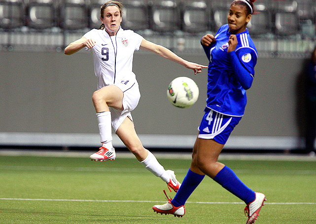 Heather O'Reilly earned her first-ever hat trick for the U.S. against the Dominican Republic.