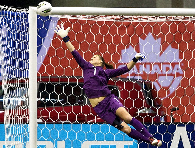 Goalkeeper Hope Solo played brilliantly throughout the tournament, not allowing any goals against five opponents.