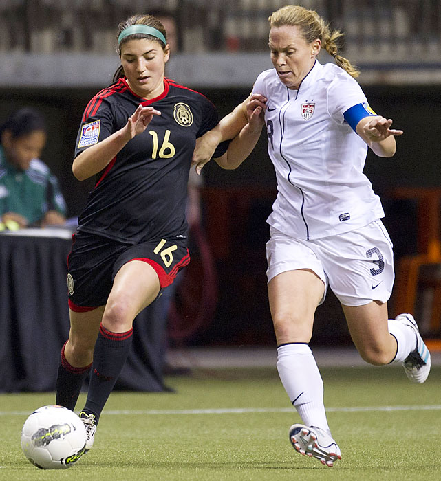 Captain Christie Rampone helped clear Mexico's counterattacks to make things easy for Solo.