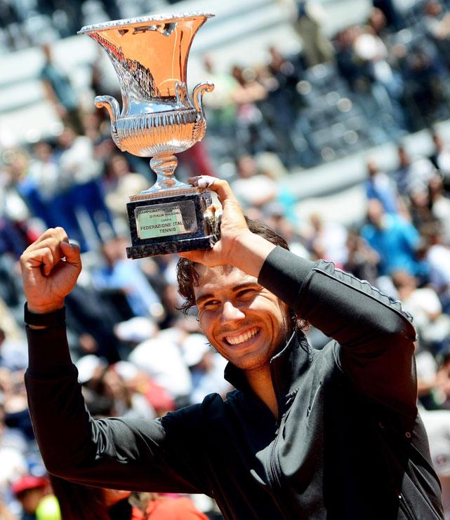 def. Novak Djokovic 7-5, 6-3 Masters 1000, Clay, €2,427,975 Rome, Italy