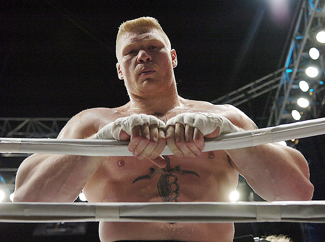 Brock stares into the camera before his 2007 fight against Min Soo Kim.