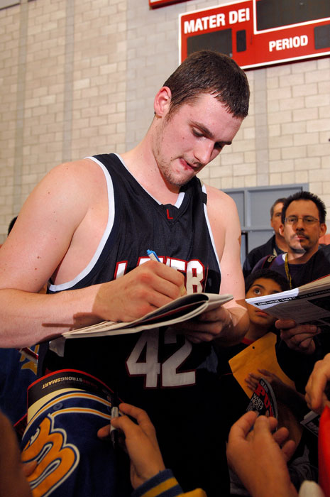 You know you're big time when people want your autograph in high school.