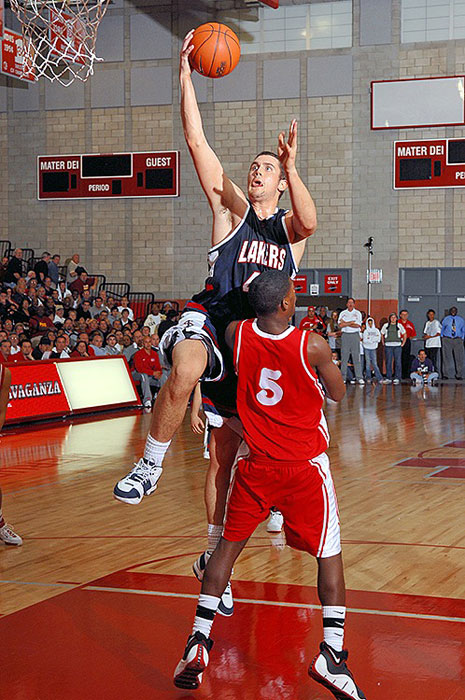 Love finished his high school career at Lake Oswego High in Oregon as the all-time leading scorer in state history with 2,628 points, breaking a 50-year-old record. He also led the Lakers (yes, the Lakers) to a state title.