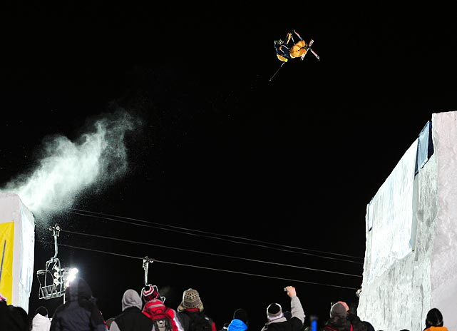 Jacob Wester competes in the Ski Big Air event at the Winter X-Games.