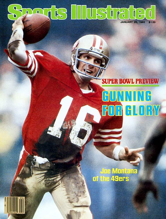 Joe Montana, then 25, led San Francisco to victory in his first ever playoff game, passing for 304 yards and two touchdowns with one pick. The 49ers blew things open in the fourth, extending their narrow 24-17 lead to 38-17 before allowing a garbage time touchdown. San Francisco would go on to win the Super Bowl.