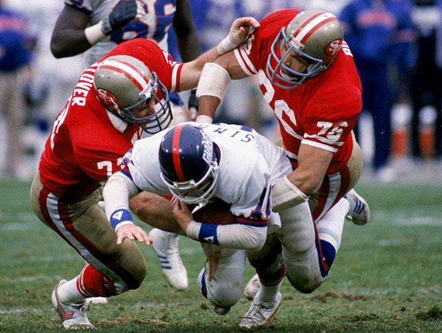 The 49ers' defense was the difference in this game, leading San Francisco to a relatively easy victory despite Joe Montana's three interceptions. The `Niners defense was strong throughout the playoffs, allowing just 26 total points en route to their Super Bowl XIX crown.