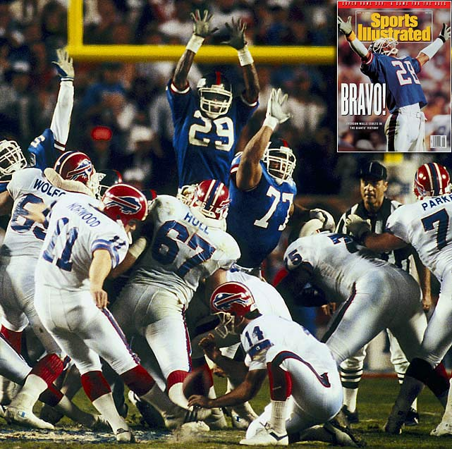 The Giants kept the high-powered Bills offense under wraps to win their second Super Bowl in five years, defeating Buffalo 20-19 after Bills kicker Scott Norwood sailed a 47-yard field goal wide right in the final seconds.