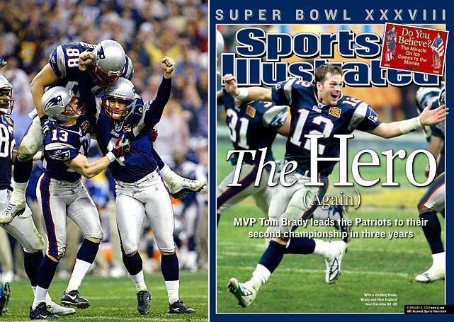 Vinatieri gave New England its second title in three seasons in 2004, kicking a 41-yard field goal with four seconds left to beat the upstart Panthers. Brady, then 26, was named Super Bowl MVP for the second time in his career.