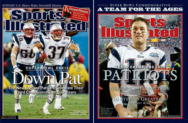 Brady and Co. made it two titles in a row and three championships out of four in 2004, beating the Donovan McNabb-led Eagles 24-21 in Super Bowl XXXIX.