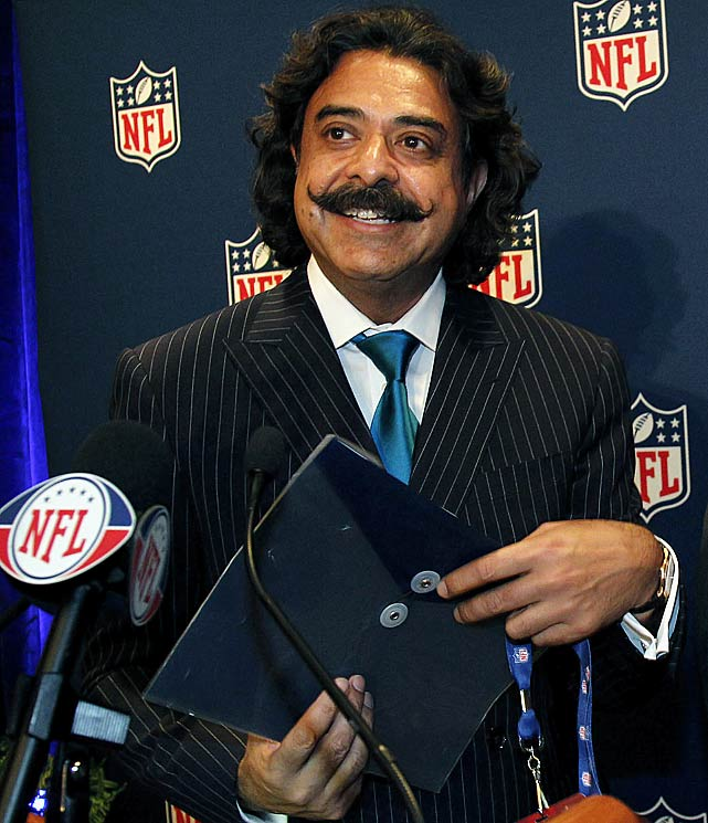 Shahid Khan became the NFL's first minority owner with his purchase of the Jaguars from Wayne Weaver. Khan, who moved to America from Pakistan at age 16, tried to buy the Rams last season before his success this year. The biggest question for the Jaguars remains whether the team will continue to call Florida home, or if a move to Los Angeles -- or another location -- is in the near future.