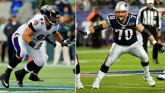 This will be another great matchup. The Ravens will need a strong game from Ngata to disrupt Brady and the Pats' offense. Mankins will be charged with slowing down the big defensive tackle.