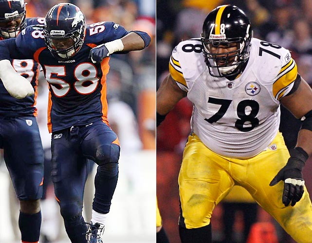Much like Redman vs. Broncos' front 7, this matchup is made even bigger by Roethlisberger's bum ankle. Roethlisberger, normally an effective scrambler, likely won't be able to get away from Miller (11.5 regular-season sacks) should the outside linebacker sneak by Max Starks on the quarterback's blindside.